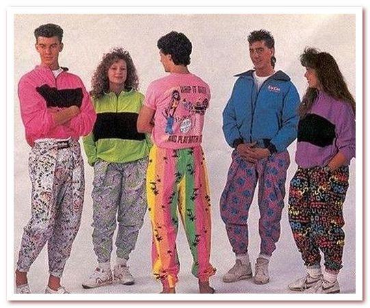 Мода 80-х. Штаны-парашюты