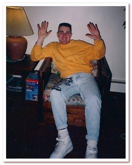 Мода 80-х. Закатанные штанины