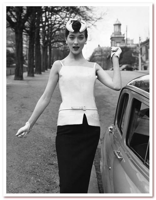 Наряд Dior от Line H (1955 г.)
