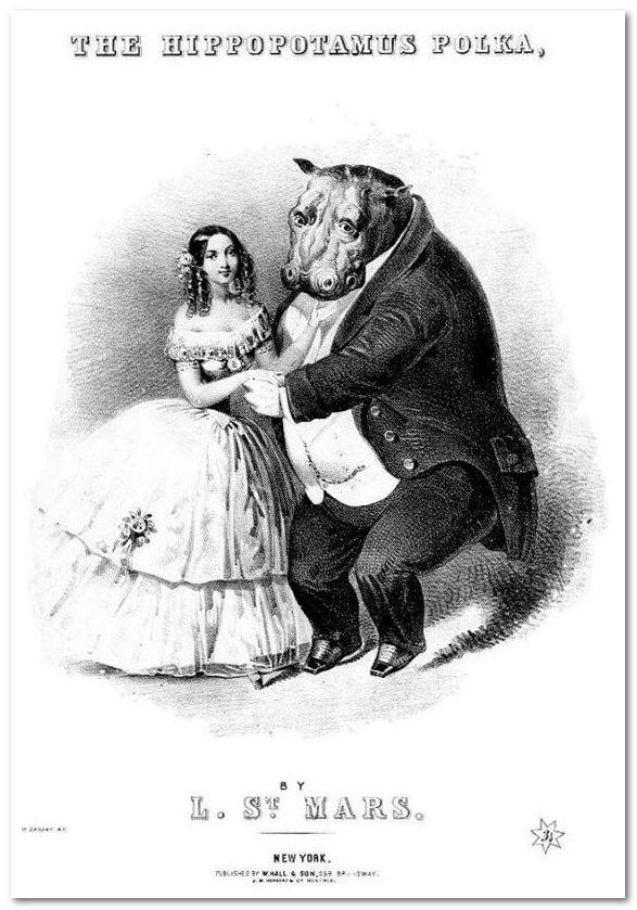 Танец полька в Нью-Йорке в 1850 году.