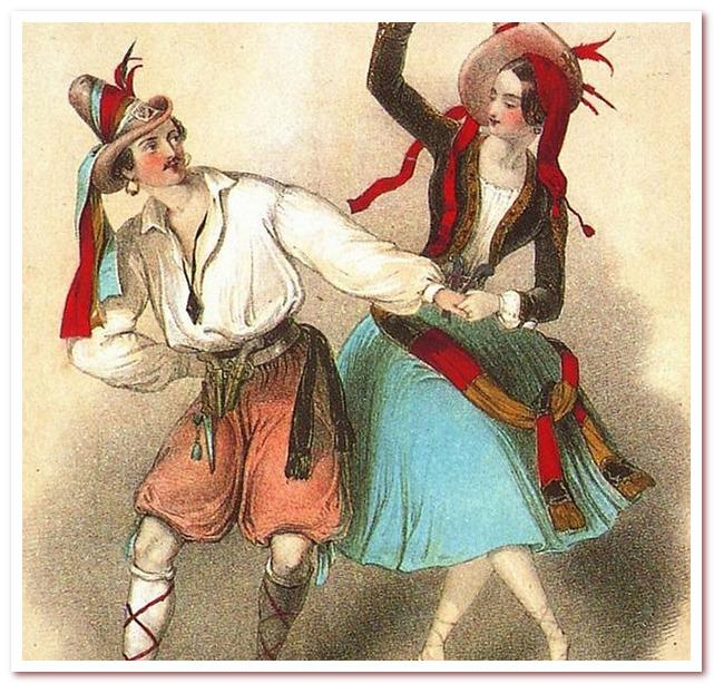 Танец полька. Новая мода захватила и другие страны.