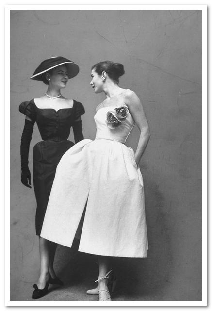 Вечерние платья из весенней коллекции Дома Dior (1951 г.)