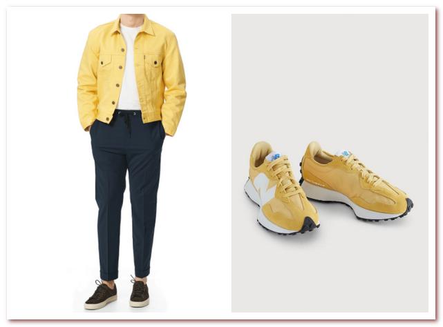 Мужская мода весна — лето 2021. Желтый цвет
