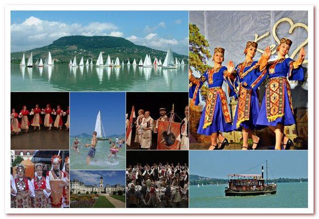 Озеро Балатон и его окресности как международный курорт богаты культурными событиями