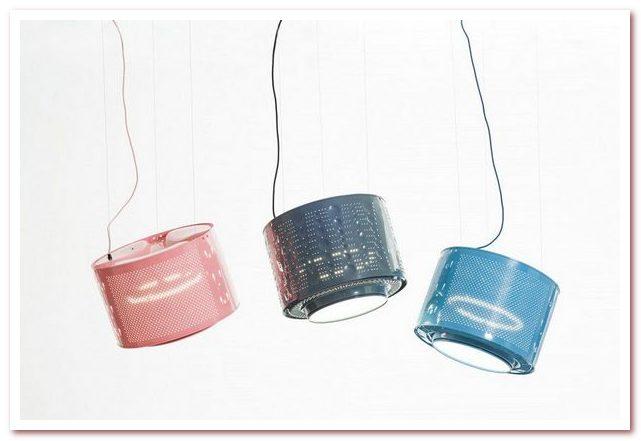 Дизайнерская лампа-барабан