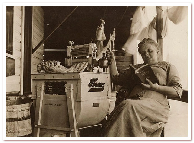 Стиральная машина Фишера. Реклама 19 века
