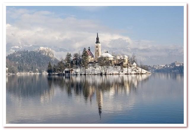 Курорты Словении. Блед зимой