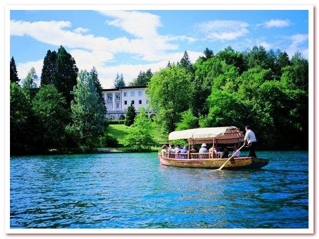 Курорты Словении. Гондола до острова