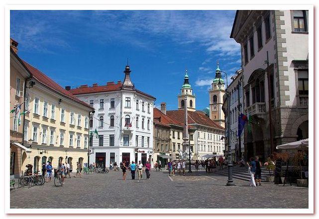 Курорты Словении. Любляна. Mestrni trg