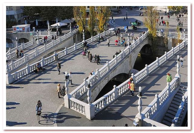Курорты Словении. Любляна. Тройной мост