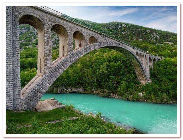 Курорты Словении. Мост Солкан
