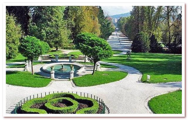 Курорты Словении. Парк Тиволи. Любляна
