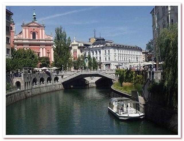 Курорты Словении. Река Любляница