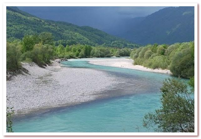Курорты Словении. Река Соча