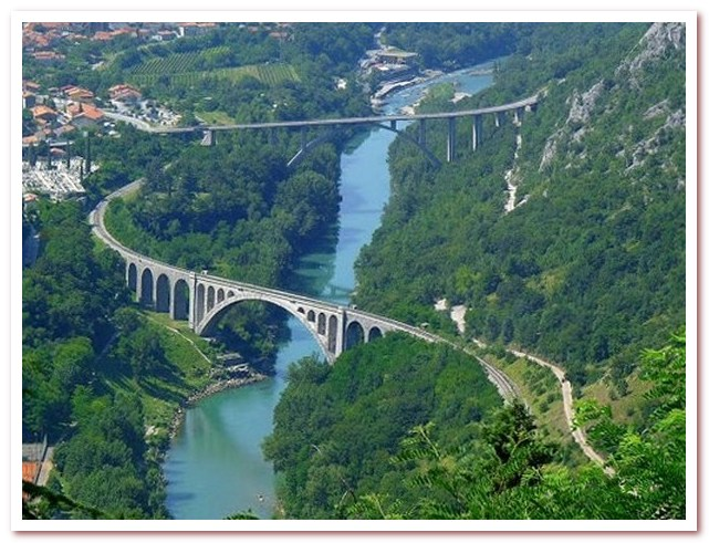 Курорты Словении. Солканский мост на Соче