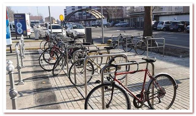 Парковка для велосипедов в Любляне