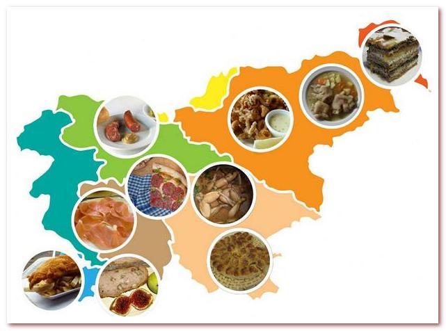 Словенская кухня имеет особенности в каждом регионе