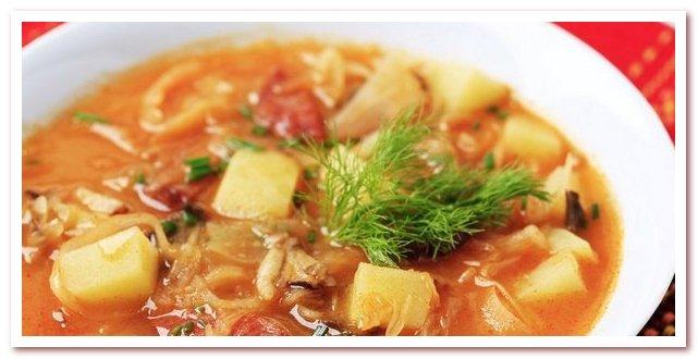 Словенская кухня. Штирийский кислый суп