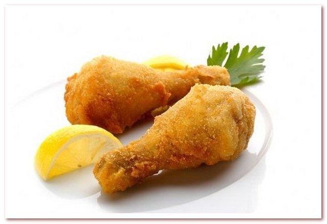 Словенская кухня. Жареный цыпленок был популярным фирменным блюдом и основным предложением повозок на маршруте Вена-Триест