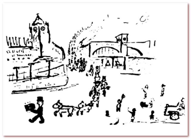 Иллюстрация к рассказу Дональда Биссета Сент-Панкрас и Кингс-Кросс
