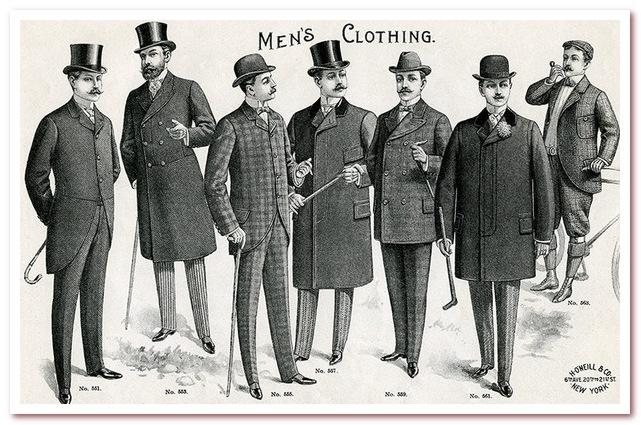 Мода 20 века. Стиль модерн в мужской одежде