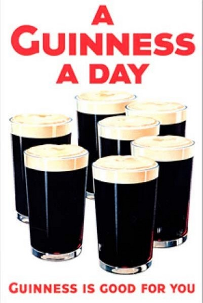Пиво Гиннесс. Рекламный плакат