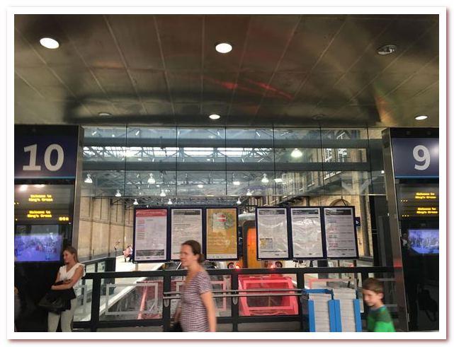 Платформы 9 и 10 на вокзале Кингс-Кросс