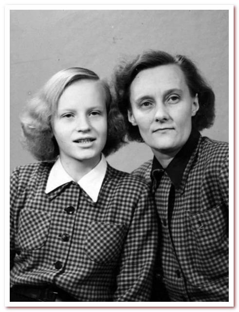 Астрид с дочерью Карин