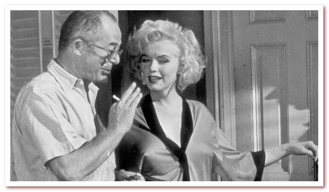 Билли Уайлдер и Мэрилин Монро во время съемок фильма В джазе только девушки