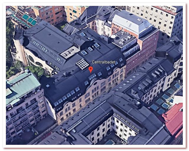 Где жил Карлсон. Drottninggatan 88. Centralbadet