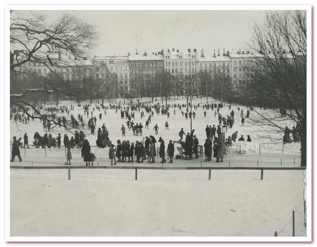 Где жил Карлсон. Каток в Васапаркен в январе 1933 года