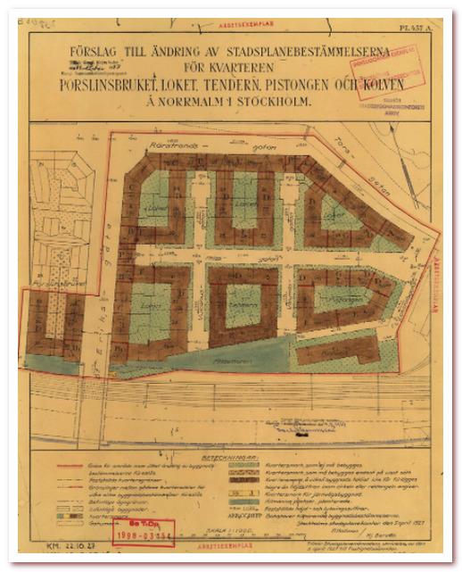 Где жил Карлсон. План района Атлас, 1927 г.