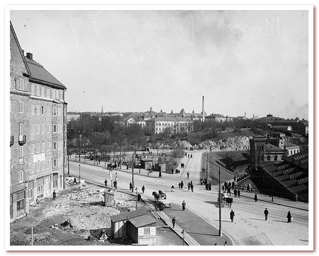 Где жил Карлсон. Санкт-Эриксплан на востоке. Мастерские Атласа справа и в центре - Васапаркен