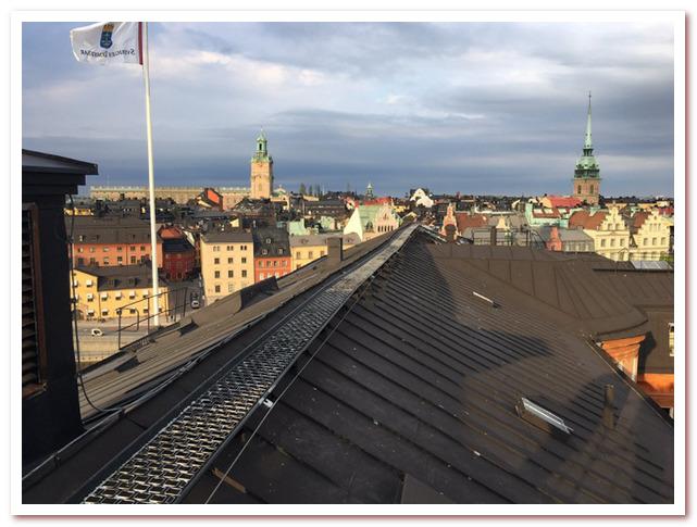 Где жил Карлсон. Тур по крышам Стокгольма. Birger Jarls torg5.