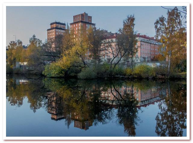 Где жил Карлсон. Вдоль канала на Kungsholms Strand открывается прекрасный вид на воду и типичные здания Васастана, построенные в основном в начале 20 века.