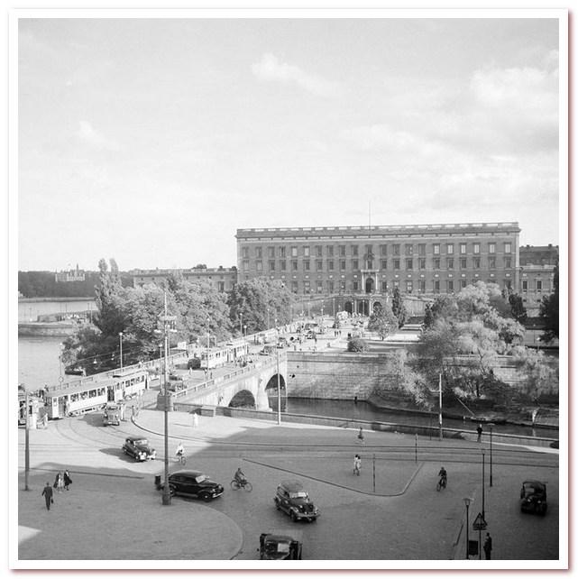 Густав Адольф Торг с Норрбро и Королевским дворцом
