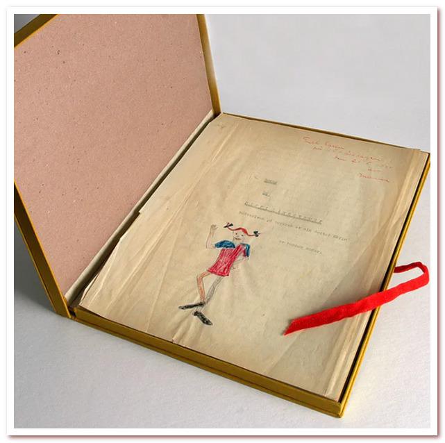 """Рукопись """"Пеппи"""" — подарок дочери Карин"""