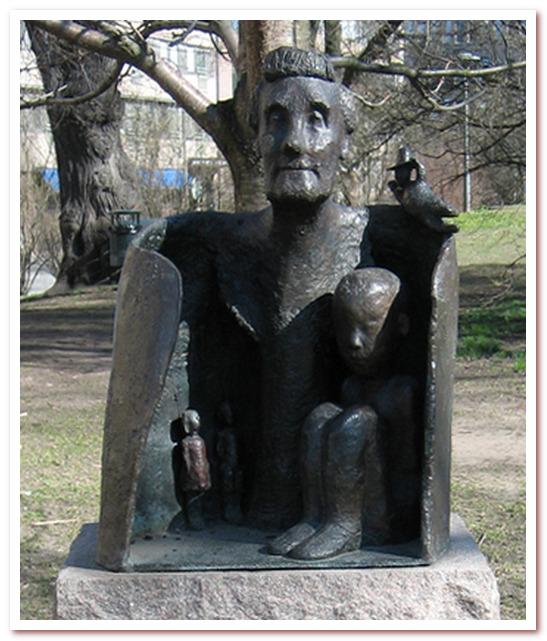 Статуя Астрид Линдгрен в парке Тегнерлунден
