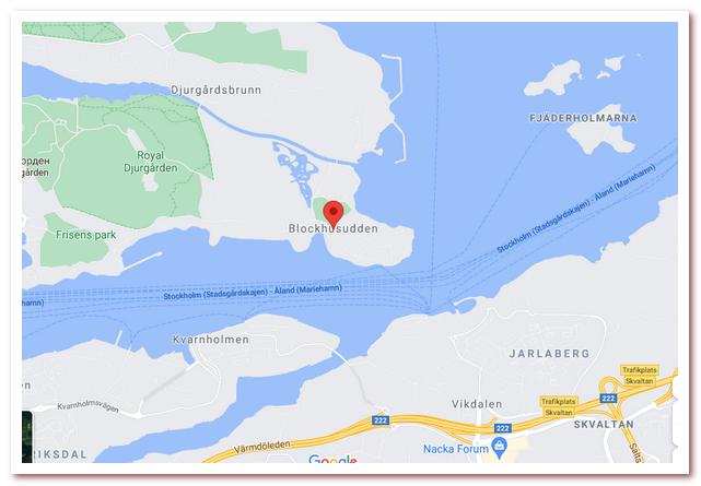 Стокгольм Астрид Линдгрен. Blockhusudden