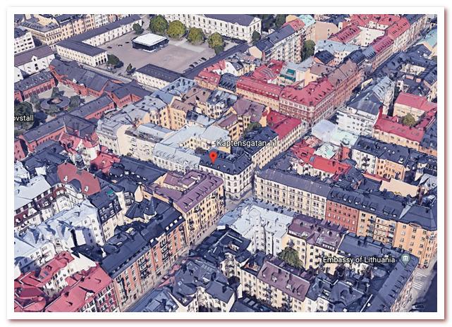 Стокгольм Астрид Линдгрен. Kaptensgatan 11