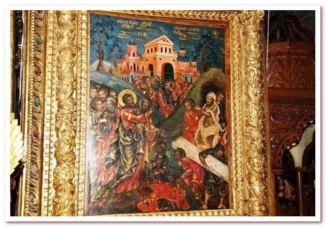 Воскрешение Святого Лазаря. Икона в Церкви Святого Лазаря. Ларнака