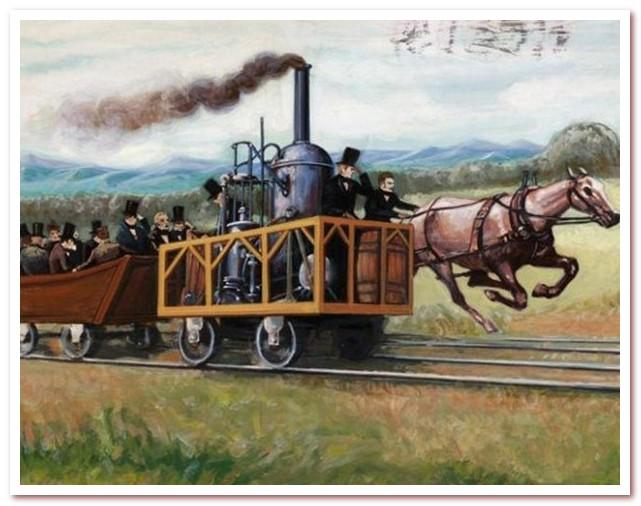 История железных дорог. Гонка поезда и лошади