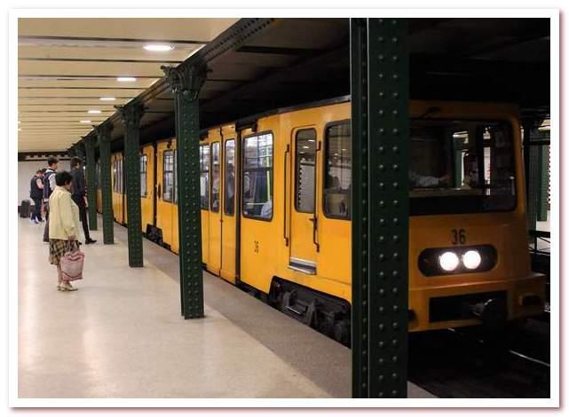 История железных дорог. Современный вид первой линии будапештского метро поверхностного залегания, старейшей в Европе