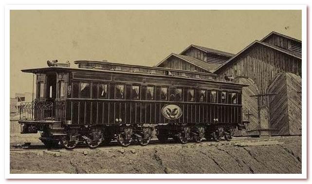 История железных дорог. Вагон похоронного поезда президента Линкольна
