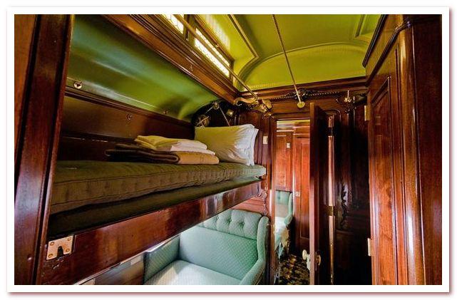 Пульмановский спальный вагон. Интерьер