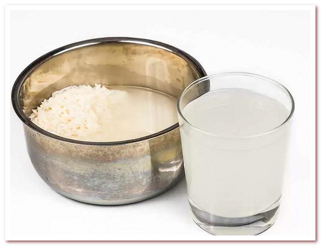 Рисовая вода для волос пригодна для употребления внутрь