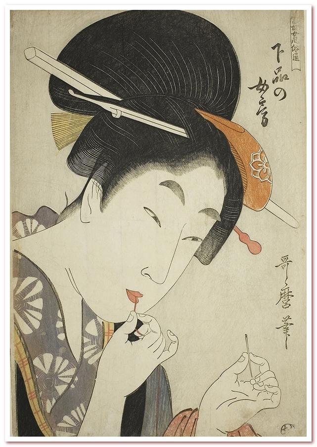 Рисовая вода для волос. Субэракаси периода Хэйан